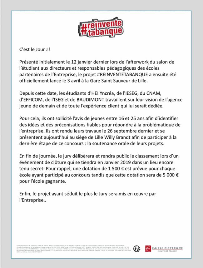 Courrier #REINVENTETABANQUE