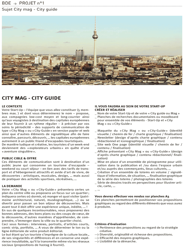 Bachelor Design EFFICOM Lille City mag