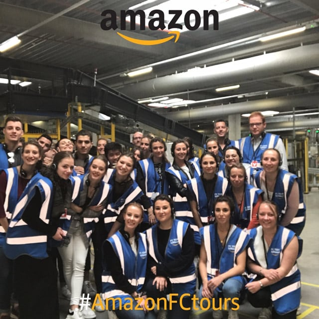 Visite Amazon étudiants Efficom Lille