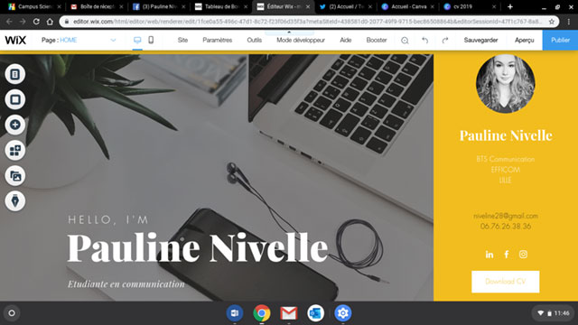 CV interactif