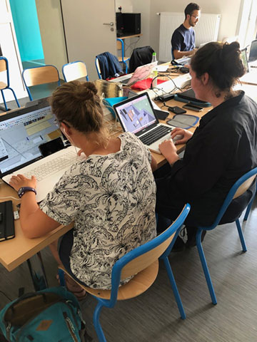 Etudiants en Bachelor Design d'Espaces de Communication